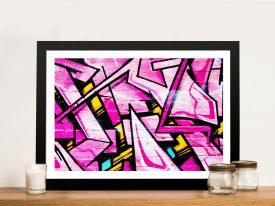 Buy Shades of Pink Framed Graffiti Wall Art