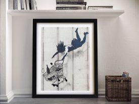 Shop Until You Drop by Banksy Framed Wall Art