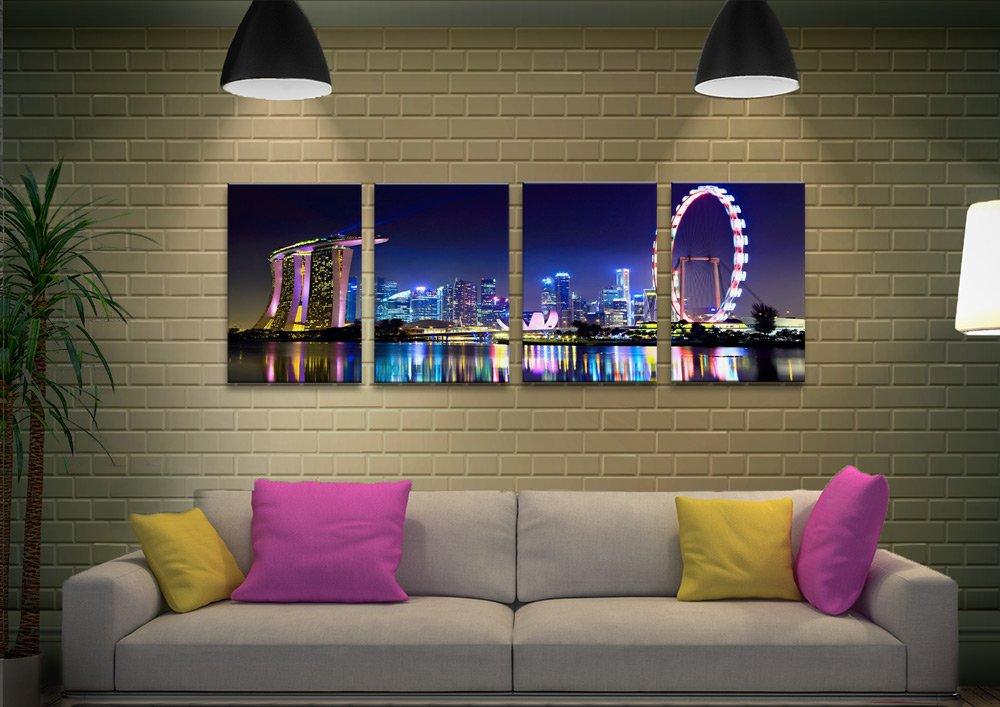 Affordable Singpore Skyline Split Panel Art
