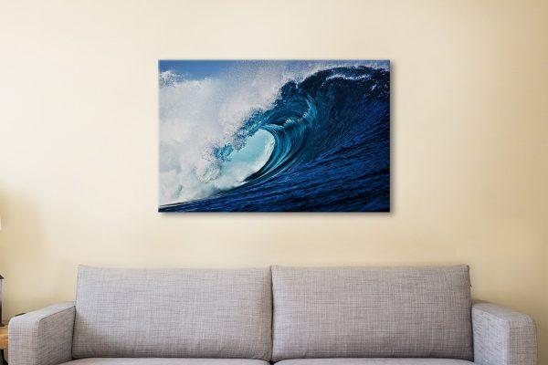 Slab Hook Ready to Hang Waves Art AU