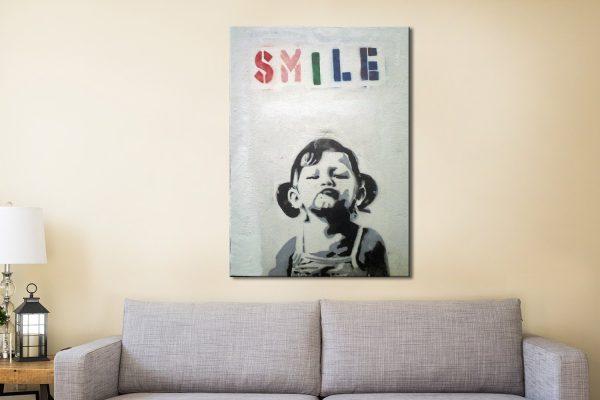 Banksy Smile Canvas Artwork