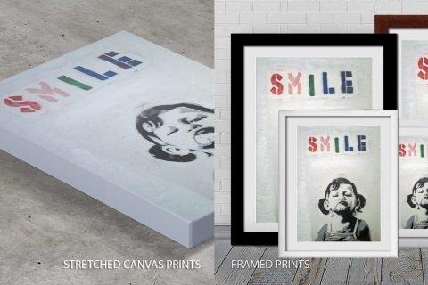 Smile Banksy Quality Print