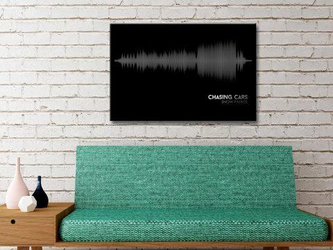 Snow Patrol Chasing Cars Soundwave Canvas Art