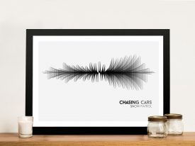 Snow Patrol Chasing Cars Soundwave Framed Art