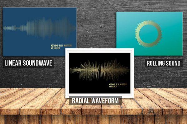 Soundwave Artwork 3 Designs Options