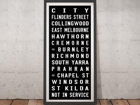 St Kilda Tram Sign Framed Wall Art