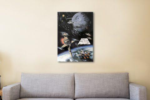 Star Wars Poster Canvas Artwork