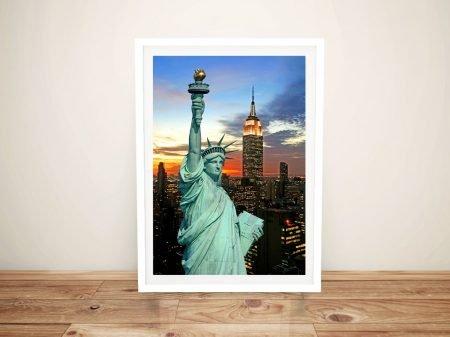 Statue of Liberty Framed Wall Art