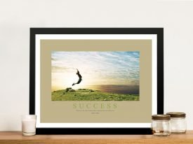Success II Motivational Quote Print on Canvas