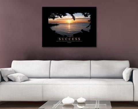 Success Quote Art on Canvas Gift Ideas AU
