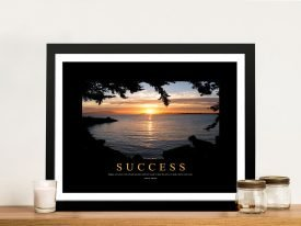 Success Motivational Canvas Print Wall Art