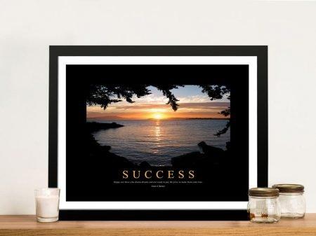Success Motivational Canvas Print Wall Art