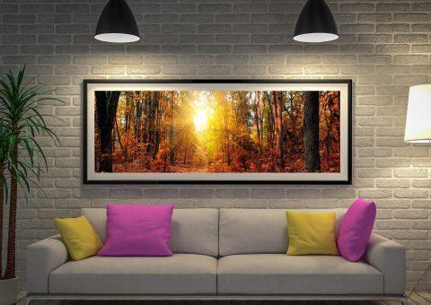 Buy Sunrise Wood Cheap Panoramic Wall Art AU