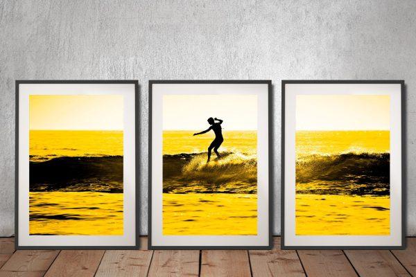 Buy Lone Surfer Affordable Triptych Art AU