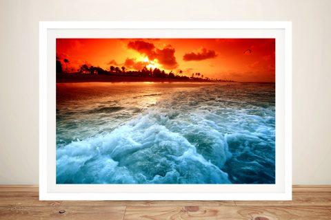 Sunset Beach Wall Art Home Decor Ideas AU