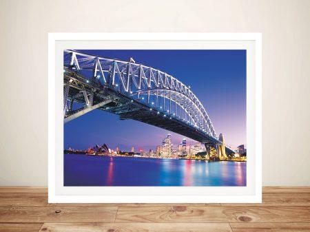 Sydney Bridge Framed Wall Art Picture
