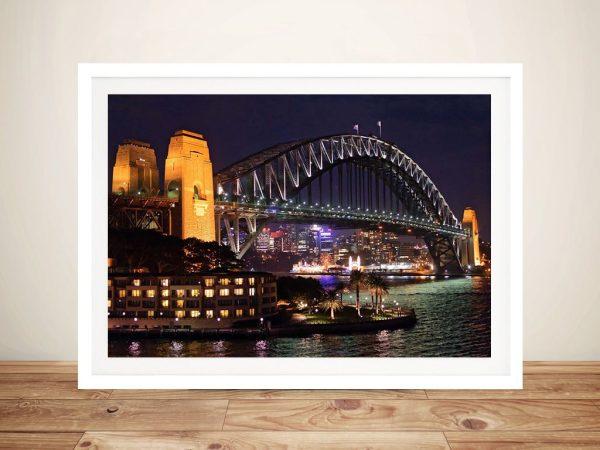 Framed Sydney Harbour Bridge Wall Art for Sale