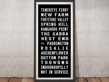 Teneriffe Ferry Tram Scroll Wall Art