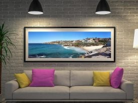 Tamarama Panorama Framed Wall Art Australia
