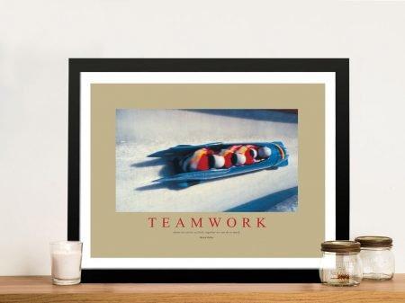 Teamwork Framed Wall Art Print