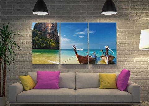Thailand Paradise Split Panel Canvas Art Set