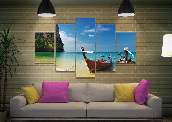 Thai Paradise Split Panel Beachscape Set