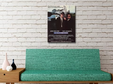 The Blues Brothers Movie Poster Canvas Art Australia