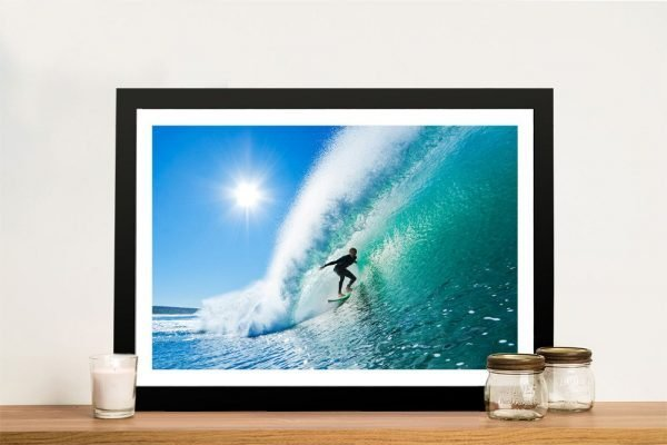 The Ride Framed Surf Art on Canvas