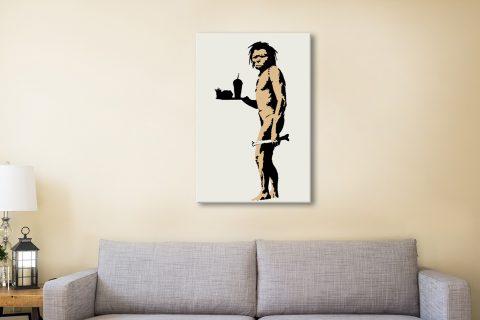 Buy Banksy Caveman Art Prin