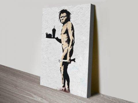 Banksy Caveman Artwork Australia