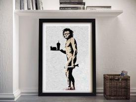 The Caveman Banksy Framed Wall Art