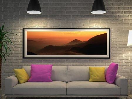 Buy Tibetan Foothills Panoramic Canvas Art