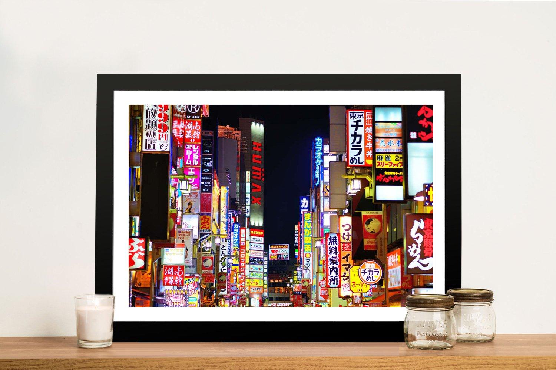 Tokyo Nights Framed Print