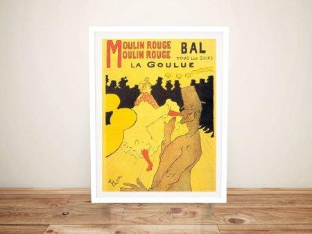 Buy Moulin Rouge Framed Vintage Wall Art