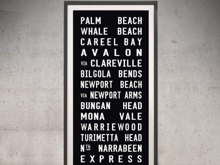 Palm Beach Tram Scroll Frame