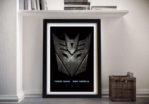 Transformers Movie Poster Framed Wall Art
