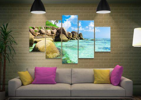 Tropical Paradise 5 Panel Canvas Print