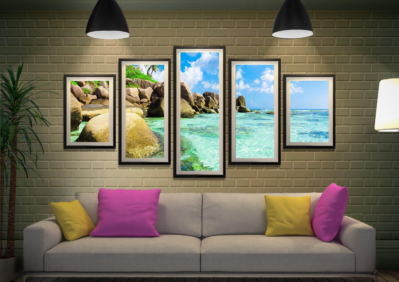 Tropical Paradise 5 Piece Framed Artwork