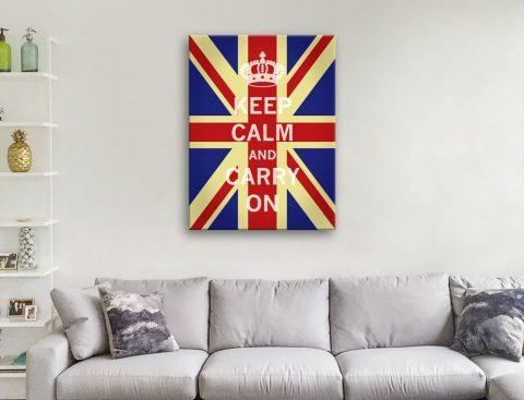 Ready to Hang Union Jack Keep Calm Art