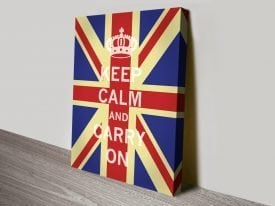 Keep Calm Union Jack Poster on Canvas
