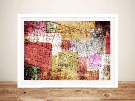 Urban Sprawl Abstract Framed Wall Art