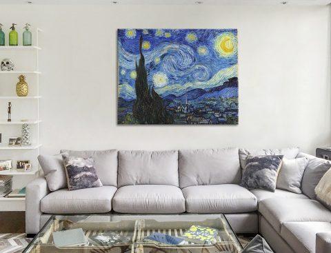 Van Gogh Starry Night Canvas Print Brisbane