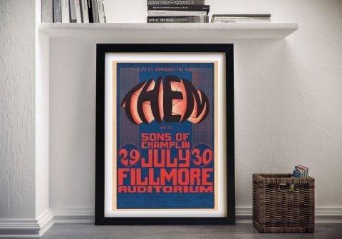 Framed Wes Wilson Poster Gift Ideas AU
