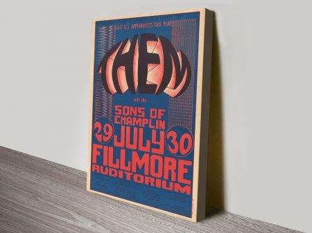 Wes Wilson Van Morrison Concert Poster