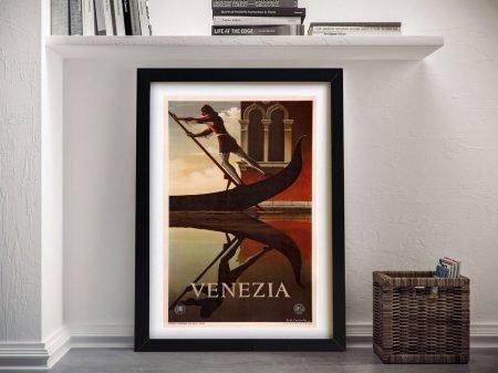 Venice Travel Poster Framed Wall Art