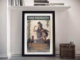 Buy Vino Vermouth Vintage Canvas Artwork