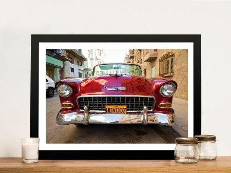 Buy a Vintage Car in Cuba Wall Art Print