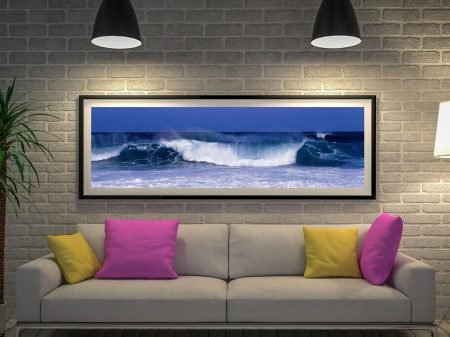 Buy Waves a Panoramic Seascape Canvas Print