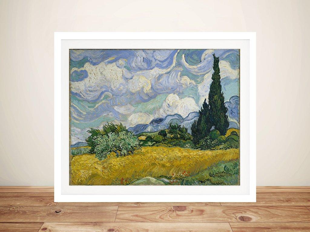 Vincent Van Gogh Wheatfield With Cypresses Canvas Art Print