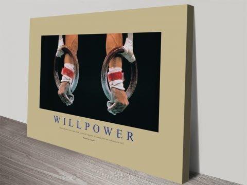 Willpower Inspirational Canvas Art
